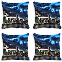MeSleep Blue Cloudy Digitally Printed Cushion Covers