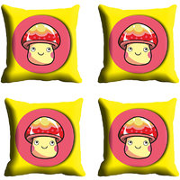 MeSleep Yellow Face Digitally Printed Cushion Covers