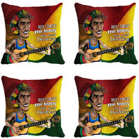 MeSleep Multi Guitar Digitally Printed Cushion Covers