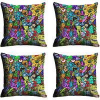 MeSleep Multi Face Digitally Printed Cushion Covers