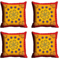 MeSleep Yellow Flower Digitally Printed Cushion Covers