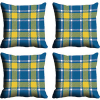 MeSleep Blue Check Digitally Printed Cushion Covers