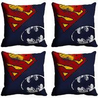 MeSleep Batman Superman Digitally Printed Cushion Covers
