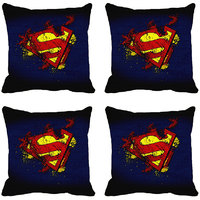MeSleep Blue Superman Digitally Printed Cushion Covers