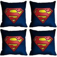 MeSleep Blue Logo Superman Digitally Printed Cushion Covers