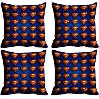 MeSleep Multi Logo Superman Digitally Printed Cushion Covers