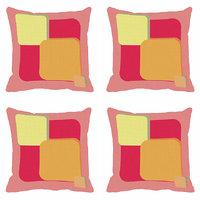 MeSleep Pink Abstract Digitally Printed Cushion Covers