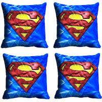 MeSleep Blue Fire Superman Digitally Printed Cushion Covers
