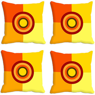 MeSleep Yellow Square Digitally Printed Cushion Covers