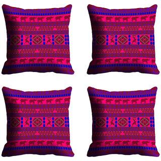meSleep Purple Pattern Digitally Printed Cushion Covers
