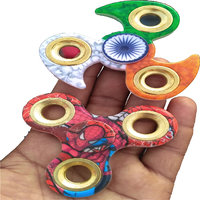 Combo Offer!Tiranga Hand Fidget Spinner Indian Flag Independence Day with spiderman spinner