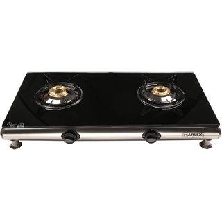 Marlex Royal Glass Top Gas Stove-2 Burner(Non Auto)
