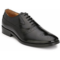 Hirel's Black Oxford Brogue  Original Leather Formal Sh