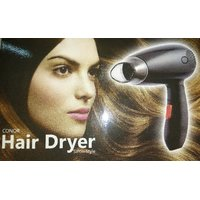 Conor Hair Dryer Dual Speed Foldable Handle 1.7 Meter Cable ABS Heat Resistant Plastic