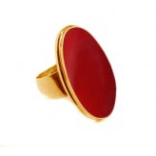 7.25 ratti Natural Red coral Adjustable ring