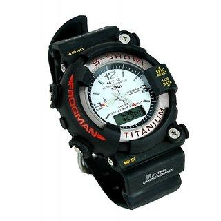 S-Shock Titanium Sports Multi-Function Watch With Light (Analog-Digital)
