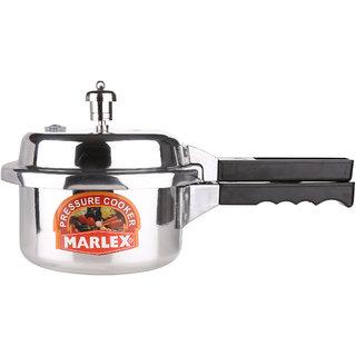 Marlex Aluminium Outer Lid Regular Premium 2 L Pressure Cooker (Aluminium)
