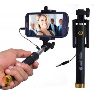 Mystical Master Selfie Stick with Wire/Aux Cable By Shopkeeda