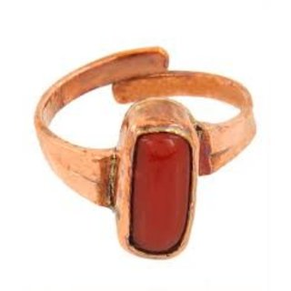 5.50 ratti Natural Red coral Adjustable ring