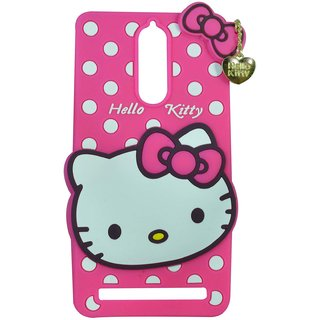 new style 4708a 49724 Style Imagine Hello Kitty 3D Designer Back Cover For Lenovo K5 Note - Pink