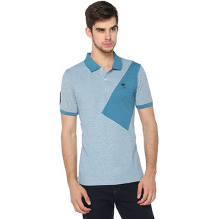 Harbor N Bay Men's Self Design Polo T-Shirt