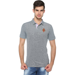 Harbor N Bay Men's Self Design Polo T-Shirt