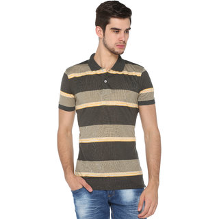 Harbor N Bay Men's Striped  Mutli-color Polo T-Shirt