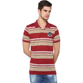 Harbor N Bay Men's Striped  Mutli-color Polo T-Shirt