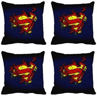meSleep Blue Superman Digitally Printed Cushion Covers