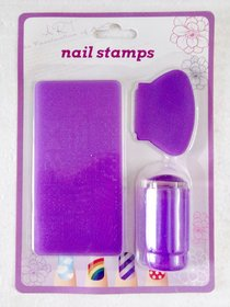 Clear Nail Art Stamping Kit with 1 Plate