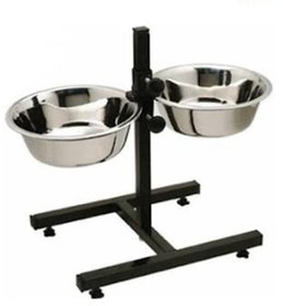 Dog Double Diner Set With Stainless Steel Bowls 1500 ML  2