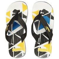 Puma Unisex Stamp Ind Black White Flip Flops