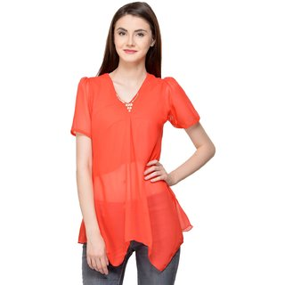 e1aaf436718cc Buy Raabta Peach Chink Top for Women Online - Get 75% Off