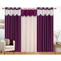 S Home Plain Window Curtains Set Of 3 4x5