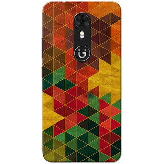Gionee A1 Case, Small Multi Triangles Slim Fit Hard Case Cover/Back Cover for