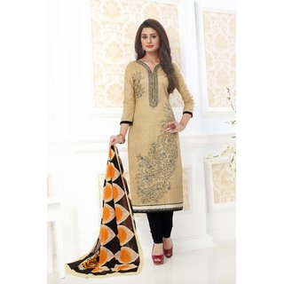 Ganpati Unstitched Pure Cotton Dress Material / Churidar Suit for Women