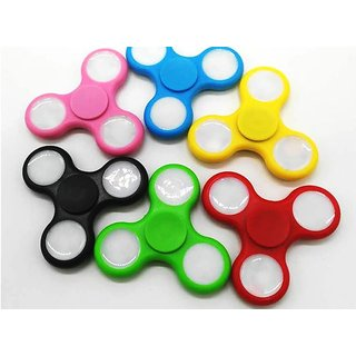 IMSTARS LED Light Tri-spinner Fidget Toy Hand Spinner