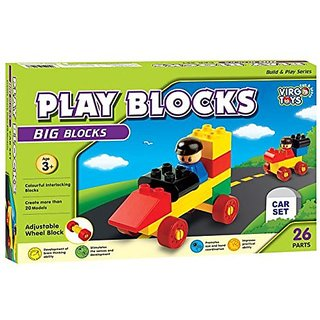 Play Block Car Set
