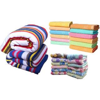 xy decor combo (1 bath towel , 1 hand towel, 2 face towel)