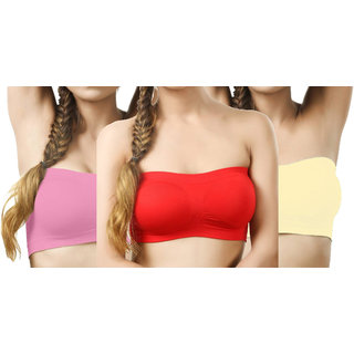 670f0018ce21b Buy Hothy Women Tube Multicolor Bra (Pack of 3) Online - Get 72% Off