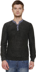 Maggivox Black 100 Percent Cotton Fleece Sweatshirt