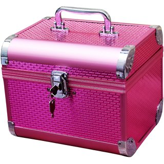 Pride Crown to store cosmetics Vanity Box (Pink)