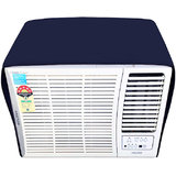 Lithara navyblue waterproof and dustproof window ac cover for Lloyd LW19A2P AC 1.5 Ton 2 Star Rating