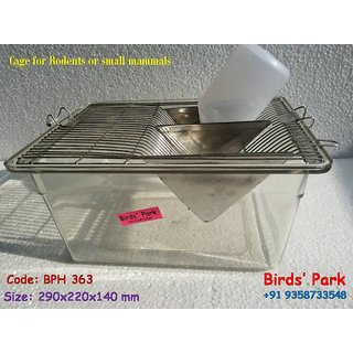 Transparent heavy unbreakable Hamster Breeding cages BPH 363 (Water Bottle free)