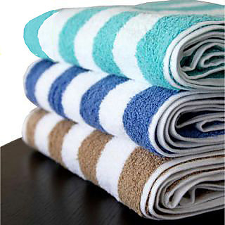 Aanand Set of 2 Cotton Multicolor Bath Towels (bt1) 25cm * 25cm