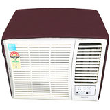 Lithara maroon waterproof and dustproof window ac cover for Whirlpool 1.5 Ton 5 star AC Magicool Copr