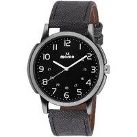MARCO Black Dial Black Strap Men's Analog Watch