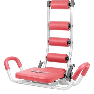 AB ROCKET TWISTER HOME GYM HEAVY DUTY SIX PACK ABS UNISEX TUMMY TRIMMER EXERCISER MACHINE  (Red Black)