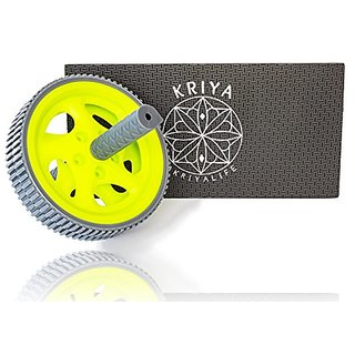 KRIYA Abdominal Wheel bundle w/ Foam Mat for your Knees