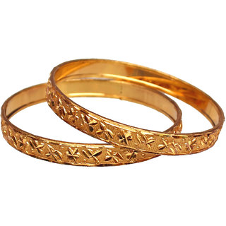 Lucky Jewellery Beautiful Ethnic Bangles With Gold Plating